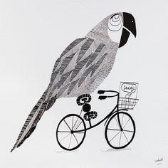 Poly on a Bike - jim field me acuerda a yo, clara y el papagayo pipo