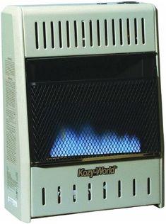 Kozy World Dual Fuel Vent Free Gas Wall Heater, 10,000 BTU - GWD104 Best Space Heater, Free Gas, World, The World