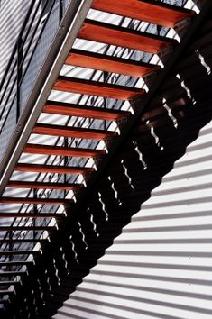 Stair et haut - Eric Forey Grey Stuff, Red Aesthetic, Staircase Design, Light And Shadow, Blinds, Minimalism, Stairs, Staircases, Montreal