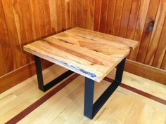 Cherry slab end table or coffee table, made with live edge slabs. One of a kind handcrafted in USA by CascadeWoodworksMN on Etsy