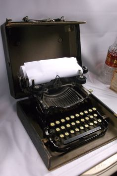Antique 1910 Smith Corona Folding Typewriter by retroricks