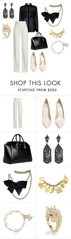 """""""Untitled #312"""" by iamgae on Polyvore featuring Yves Saint Laurent, Brandon Maxwell, Francesco Russo, Givenchy, Amrapali, Chanel and Effy Jewelry"""