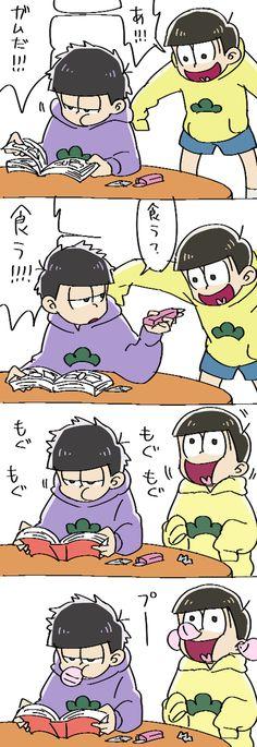 一松と十四松 whoa holy there Jyu slow down #Ichimatsu