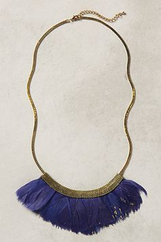 Fanned Feather Necklace - anthropologie.com
