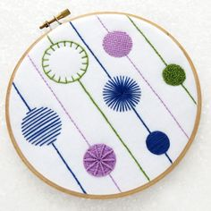 This is another take on a modern sampler embroidery kit ( I have 4 different sampler designs) It teaches you 9 different stitches with nothing too complicated I do love a good sampler