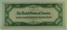 US Bill 1934-A $1000 Federal Reserve Note