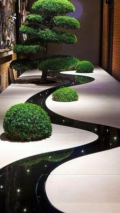 Japanese Garden Design, Modern Garden Design, House Garden Design, Mini Zen Garden, Moon Garden, Indoor Zen Garden, Indoor Gardening, Gravel Garden, Rocks Garden