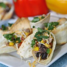 TheseWeight Watchers Chicken Taco Cupsare simple to make. My kids even loved these!