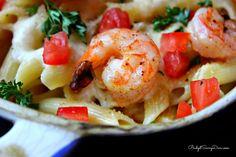 """Olive Garden Baked Parmesan Shrimp is basically a Shrimp Scampi recipe. Shrimp Scampi, normally is not naked so the Baked Parmesan Shrimp is a little twist on a classic recipe. Baked Parmesan Shrimp Recipe, Baked Shrimp Recipes, Fish Recipes, Seafood Recipes, Pasta Recipes, Dinner Recipes, Cooking Recipes, Yummy Recipes, Simply Recipes"