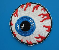Ironon Embroidered Patch Eyeball 2.75 inch by Nice2MeetU on Etsy, $3.99