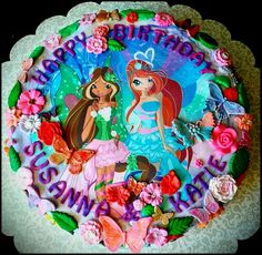 WINX CLUB ~ FLORA & BLOOM CAKE  ~ Custom-Made-To-Order Cakes & Desserts For All Occasions www.sumptuoustreats.com