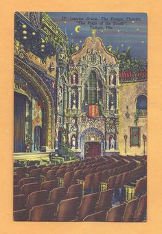 """Vintage Linen"""" Interior Scene, Tampa Theater, Pride Of The South"""",Tampa, Florida"""