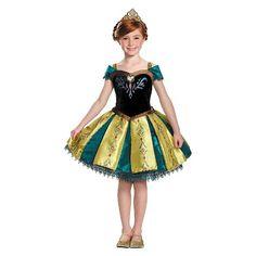 Anna Coronation Gown Prestige Tutu Toddler Costume - Gold (3T-4T)
