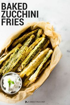Grilled Asparagus With Zucchini And Squash Recipe . Spinach And Red Pepper Frittata Recipe NYT Cooking. Tuscan White Bean Zucchini Pasta The Lean Clean Eating . Zucchini Pommes, Bake Zucchini, Zucchini Fries, Veggie Fries, Gf Recipes, Side Dish Recipes, Healthy Recipes, Free Recipes, Salads