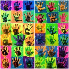 1st Grade - Andy Warhol Pop Art Hands