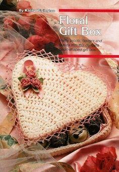 X181 Crochet PATTERN ONLY Floral Valentine Heart Candy Box Pattern | BeadedBundles - Craft Supplies on ArtFire