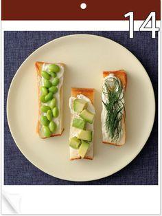 【ELLE a table】「グリーンスティックトースト」|【8月のトーストカレンダー】毎日トースト!|エル・オンライン