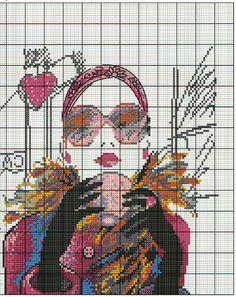 Схема вышивки Парижанка (Овен) 2 из 4