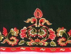 Forkle - Norsk Folkemuseum / DigitaltMuseum Folk Embroidery, Sharpies, Royal House, Regional, Embellishments, Scandinavian, Diy And Crafts, Doodles, Pattern