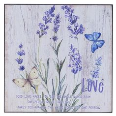 WOODEN WALL PAINTING LOVE 25X1Χ25