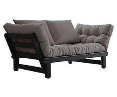 Multifunctionele futonsofa Beat, zwart/grijs, L 162-200 cm