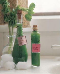 Cooling DIY Cucumber Toner - a Relaxing Gift Idea
