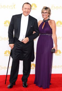 Kevin Spacey & Ashleigh Banfield from 2014 Emmys: Menswear | E! Online - Get the look in the Ralph Lauren Ritz http://www.sarnoandson.com/Tuxedos/Ritz-Super-100s-Peak-Full-Dress-by-Ralph-Lauren-261.aspx