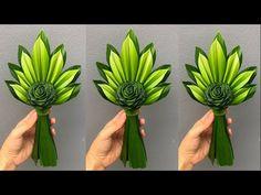 Funeral Floral Arrangements, Tropical Floral Arrangements, Creative Flower Arrangements, Ikebana Arrangements, Beautiful Flower Arrangements, Paper Flowers Craft, Diy Flowers, Palm Tree Flowers, Palm Frond Art
