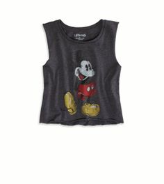 Junk Food Clothing Mickey Mouse Crop Tank LST & FND at American Eagle