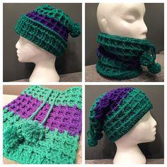I love that purple stripe! #crochet #winter #instacrochet #crochetersofinstagram #wafflestitch by kianika_crochet