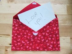 No Sew Fabric Envelope for a Gift Card or Cash.