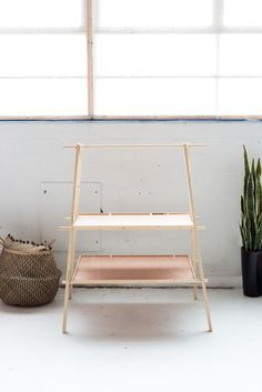 DIY Ladder Plant Shelf for a Small Garden or Balcony | @fallfordiy-10
