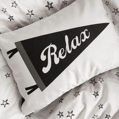 Relax Pennant Pillow