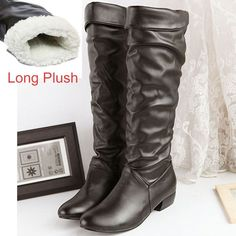 Plus size 43 fashion new arrival Winter Mid-Calf Women Boots Black White Brown flats heels half boots autumn Snow shoes AA567