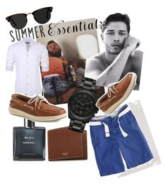 """""""Casual chic"""" by vickycharette on Polyvore featuring Mulberry, Banana Republic, Chanel, Stone Rose, Sperry, American Eagle Outfitters, Michael Kors, Ace, men's fashion et menswear"""