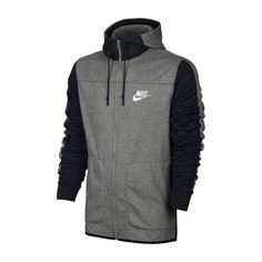 Details zu Nike M Nsw AV15 Hoodie Fz Herren Jacke Kapuzenshirt Windrunner  Kapuzenjacke Grau f70c85312d
