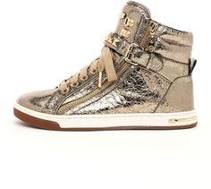 ac13baa997d79c Michael Kors Metallic Glam Studded High-Top Sneaker on shopstyle.com  Studded Sneakers