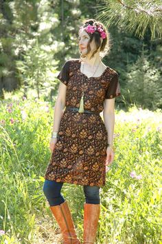 Indian Tunic Dress... Gypsy Dress... Embroidered by AstralBoutique, $42.00