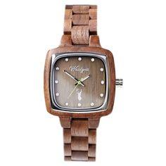 """Autentické drevené hodinky Waidzeit - Unikátne Náramkové Hodinky – Tagged """"woman"""" – waidzeit.sk Intuition, Square Watch, Wood Watch, Watches, Accessories, Wooden Clock, Wristwatches, Clocks, Jewelry Accessories"""