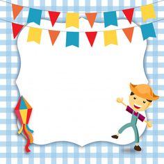 Convite de festa junina do menino Vetor . Graduation Theme, Life Skills, Pop Art, Vector Free, Decoupage, Alice, Playing Cards, Dots, Wallpaper