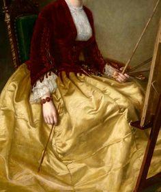 "1855 - ""Mrs. Charles Morey (Anna Chadbourne, later Mrs. David E. Hughes)"" (detail) by George Peter Alexander Healy (Boston, USA, 1813-1894)."
