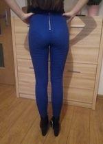 niebieskie spodnie z zamkiem z tyłu H&M