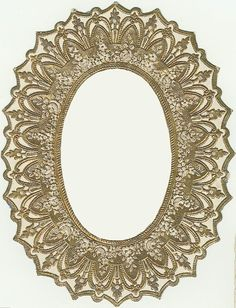 Gold Oval Frame...One LUCKY Day