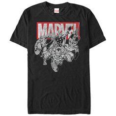 Avengers Marvel Quad T-Shirt Color Black Adult Young Mens Cotton Marvel Logo, Marvel Shirt, Marvel Avengers, Marvel Comics, 11 Clothing, Man Thing Marvel, Personalized T Shirts, Cute Shirts, Polo Shirts