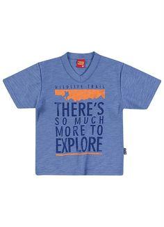 Camiseta Infantil Menino Kyly Azul - Posthaus