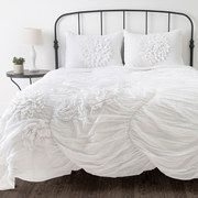 White on white décor - fresh, crisp and clean.  White on White: Bedding & Bath event on #zulily today!