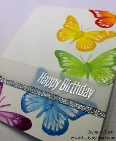 Colorful Happy Birthday card using Happy Little Stampers + Video