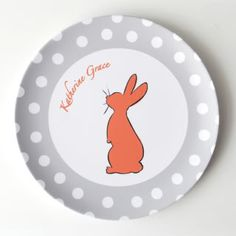 Custom Easter silhouette plates for kids - six different patterns.