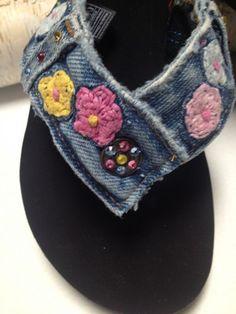 b5074302e276 Denim Blue Jean Flip Flop Thong Sandal w  Embroidery Size 7 - The OK
