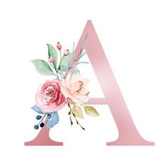 Floral alphabet, letter A with watercolor flowers and leaf. Monogram initials perfectly for wedding invitations, greeting card, logo, poster and other design. - Buy this stock illustration and explore similar illustrations at Adobe Stock Cute Wallpapers, Wallpaper Backgrounds, Iphone Wallpaper, Art Floral, Alphabet Letters Design, Alphabet Wallpaper, Floral Letters, Design Poster, Henri Matisse